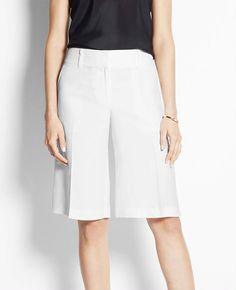 Petite Pleated Gaucho Shorts