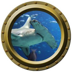I love this little porthole for nautical themed room on etsy