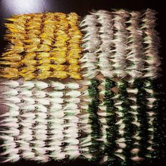 20 dozen #OlympicMedal streamers in Gold, Silver, Pearl, and Olive, headed to the crew over @flysouthnashville by Looper Flies