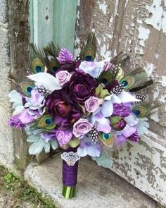 purple bouquet -very pretty! by mandy