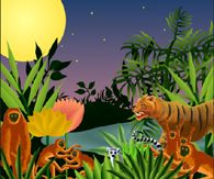 Henri Rousseau is a French artist known for his exotic scenes and bold colors. He did not even pursue his art until he retired at age 49! He drew much inspiration from nature, and students enjoy learning his fluid brush strokes and layering techniques as they create art from their imaginations!
