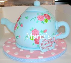 teapot cake | Flickr - Photo Sharing! Teapot Cake, 7 Cake, Decorated Cakes, Tea Parties, Party Cakes, Towers, Amazing Cakes, Tea Pots, Cake Decorating
