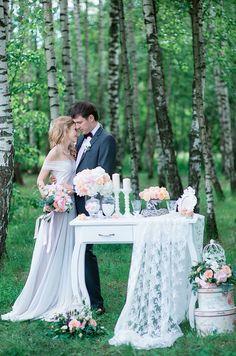свадьба в стиле Шебби-шик, свадебная фотосессия, декор свадебной фотосессии