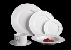 Amazon.com | Mikasa Ridge 24 Piece Bone China Dinnerware Set, Service for 4: Dinnerware Sets