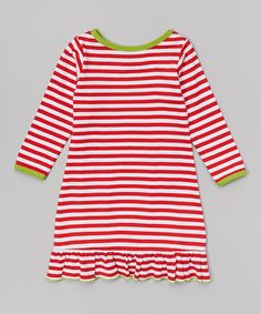 Look at this Red Stripe Nightgown - Infant, Toddler