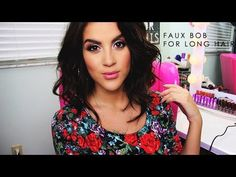 LOVE LOVE LOVE her YT channel - Just the BEST!!!  ▶ Faux Bob for Long Hair - Nicole Guerriero