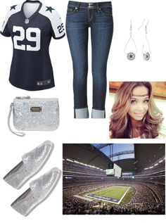 """""""Dallas Cowboys game day"""" by susan12370 ❤ liked on Polyvore"""