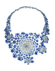necklace by Marc Newson for Boucheron ... looks like the milky way in blue