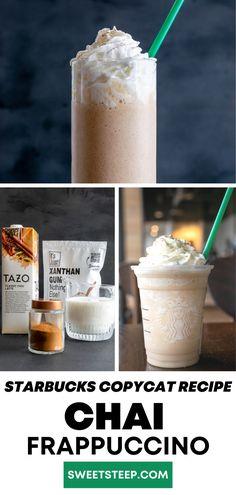 Frappuccino Recipe, Starbucks Frappuccino, Latte Recipe, Starbucks Recipes, Starbucks Drinks, Chai, Non Alcoholic Drinks, Beverages, Tea Blog