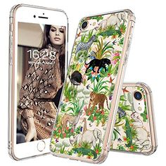 iPhone 8 Case, iPhone 7 Case, MOSNOVO Fashion Wild Animals Pattern Clear Design Transparent Plastic Hard Back with TPU Bumper Protective Case Cover for Apple iPhone 7 / iPhone 8 inch) Cool Iphone 7 Cases, Iphone 7 Covers, Girl Phone Cases, Iphone Cases For Girls, Cute Phone Cases, Iphone 10, Samsung Galaxy, Apple Iphone