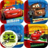 Cars 2 Dessert Plates Square 8ct - Party City