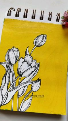 Watercolor Art Lessons, Doodle Art Designs, Art Painting Gallery, Mini Canvas Art, Wow Art, Art Drawings Sketches Simple, Yellow Painting, Anime Scenery, Ideas