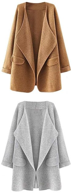 Hot Sale, $31.99! Clearly, you know that this cardi will keep you warm. Simple solid color can still reveal the your fashion vibe. Classic chic style comes for you.