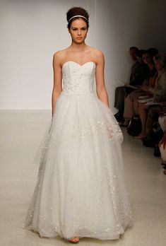 ALine tulle skirt at Christos Bridal.  One of the new 2013 collection shown at New York Bridal Fashion Week -