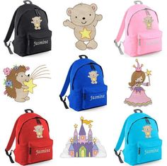 Personalized Embroidered Bear/Fairy/Stars by thebagbase on Etsy