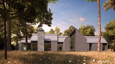 Les maisons métisses Adornetto Farmhouse Architecture, Modern Farmhouse Exterior, Lac Champlain, Black House, Tudor, My Dream Home, Habitats, Sweet Home, Cottage