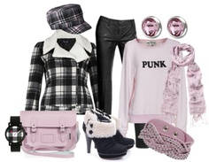 """Pretty in ""Punk"""" by featherlynne on Polyvore"