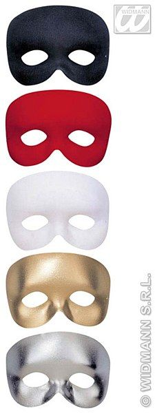 This phantom eyemask is a white fabric eyemask which is held in place with an elasticated band. Elegant Masquerade Mask, Eye Masks, White Fabrics, Band, Sash, Bands