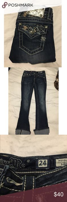 Miss me jeans Miss me jeans. Worn a couple of times, good condition. Size 24. Miss Me Jeans Boot Cut
