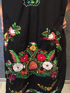Mexican mini dress tunic embroidered mexican party day of the