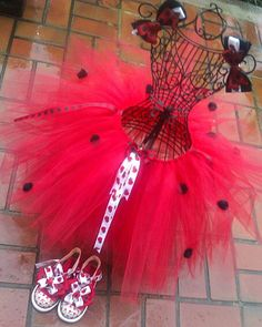 Lady Bug  Tutu with  2  Hairbows by PinkToesAndHairBows on Etsy, $35.00
