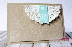 Stampin Up I Love Lace Perfect Pennants Wimpeleien