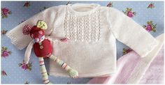 KATIA Official Website - Knitting yarns, fabrics, books and free patterns by Katia Knitting For Kids, Knitting Yarn, Baby Knitting, Baby Cardigan, Knit Cardigan, Crochet Designs, Crochet Patterns, Knit Baby Sweaters, Bebe Baby