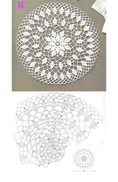 Ideas For Crochet Bag Flower Beautiful Crochet Doily Diagram, Crochet Doily Patterns, Thread Crochet, Crochet Motif, Irish Crochet, Crochet Doilies, Crochet Stitches, Free Crochet, Crochet Art