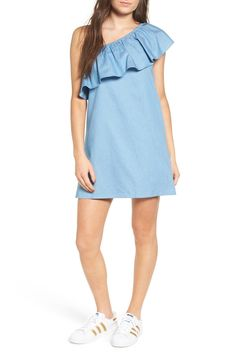 Popover One Shoulder Dress