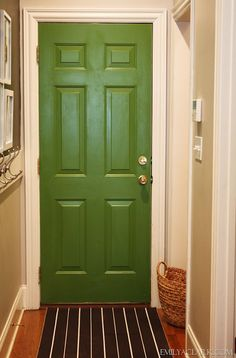 painted interior door- emilyaclark.blogspot.com