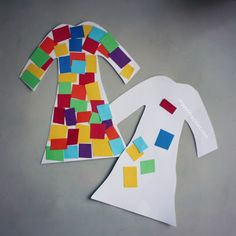 Joseph's coat of many colors tissue paper Bible craft  - inspiration for Nov Week 1 3-5's Coat in the Window