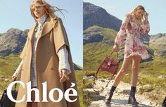 Chloe Heads to The Highlands for Fall 2019 Campaign Chloe Brand, Chloe Clothing, Campaign Fashion, Advertising Campaign, Fashion Shoot, Bohemian Style, Stylists, Kimono Top, Feminine