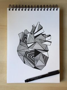 Geometric shapes and various patterns come together to create more than meets the eye. Doodle Art Drawing, Mandala Drawing, Black Pen Drawing, Zen Doodle, Geometric Shapes Drawing, Geometric Art, Geometric Designs, Mandala Art Lesson, Mandala Artwork