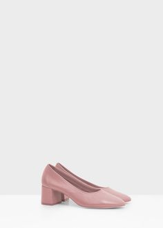 Heel leather shoes - Shoes for Woman   MANGO United Kingdom