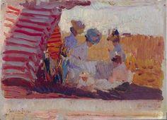 """Playa de Biarritz"" (1906) | Joaquín Sorolla y Bastida"