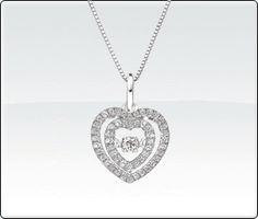 Beats of Love Diamond Pendant – Double Heart Halo