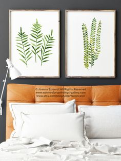 Fern Print Green Botanical Art. Set of 2 Ferns. Women Watercolor Painting. Nature Wall Decor Gift Idea. Green Home Decoration Kitchen Wall Painting. Home Garden Illustration. A price is for the set of 2 watercolor Fern paintings as shown on the first photo.  Type of paper: Prints up to (42x29,7cm) 11x16 inch size are printed on Archival Acid Free 270g/m2 White Watercolor Fine Art Paper and retains the look of original painting. Larger prints are printed on 200g/m2 White Semi-Glossy ...