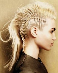 Hot Braided Mohawk Hairstyles 2014