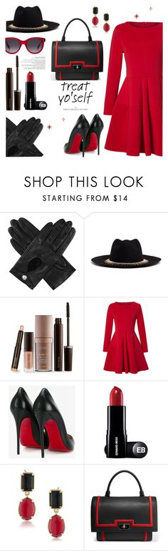 """""""It's Time to Treat Yo'Self!"""" by louise-frierson ❤ liked on Polyvore featuring Dents, Venna, Laura Mercier, WithChic, Christian Louboutin, 1st & Gorgeous by Carolee, Givenchy and Alexander McQueen"""