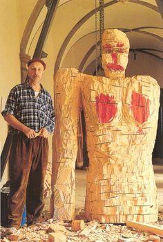 GEORG BASELITZ mit Frau Paganismus Atelier Dernburg, 1994 Foto: J. Littkemann