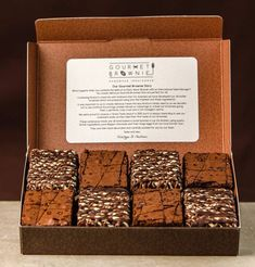 Brownie dessert Box - Gourmet Brownie Chocolate And Caramel Gift Box. Chewy Brownies, Oreo Brownies, Caramel Brownies, Brownie Cookies, Chocolate Brownies, Chocolate Chocolate, Easy Brownies, Blondie Brownies, Cheesecake Brownies