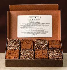 Brownie dessert Box - Gourmet Brownie Chocolate And Caramel Gift Box. Cookie Dough Brownies, Cocoa Brownies, Brownie Frosting, Chewy Brownies, Oreo Brownies, Caramel Brownies, Brownie Cake, Easy Brownies, Blondie Brownies