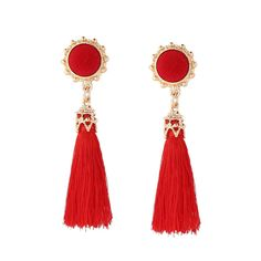 Awesome Great Casual Women Pompon Long Tassel Drop Dangle Earrings statement Ear studs jewelry  Cool