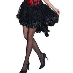 0174c941e8 British Fashion Bug Women Plus Size Solid Color Lace Asymmetrical High Low  Corset Party Skirt Plus