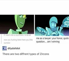 But only one honorable lawyer hint it's blue zircon