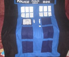 Make a Tardis Blanket -- instructions & pattern included along with a helpful video.