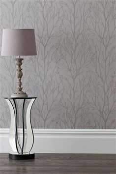 Buy Pewter Twigs Wallpaper from the Next UK online shop next wallpaper is really nice to hang and the price is good also there's no hunting round for things o match as its all from next