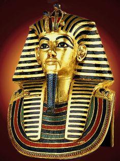 King Tut's gold tomb mask.