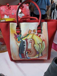 Borsa ecopelle dipinta a mano Kogel hand painted bag