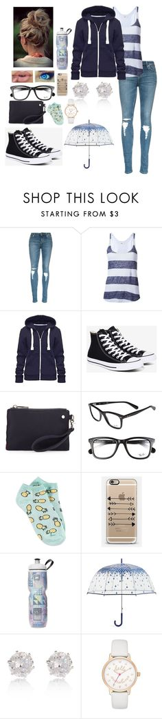 """Rainy Day"" by lillyd26 ❤ liked on Polyvore featuring Humanoid, Converse, Neiman Marcus, Ray-Ban, Forever 21, Casetify, Vera Bradley and River Island"